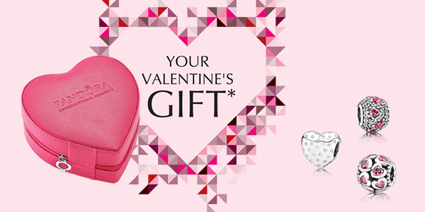 pandora jewelry free gift box offer for valentines day 2014 image